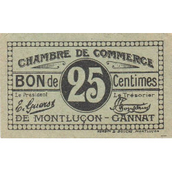 Montluçon / Gannat - Pirot 84-74 - 25 centimes - Etat : NEUF