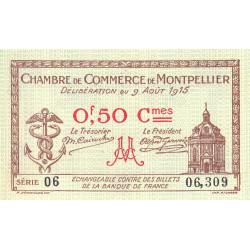 Montpellier - Pirot 85-1 - 50 centimes - 1915 - Etat : SUP+