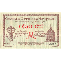 Montpellier - Pirot 85-1 - 50 centimes - Etat : SUP