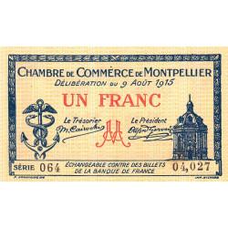Montpellier - Pirot 85-10b - 1 franc - Etat : SPL