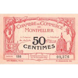 Montpellier - Pirot 85-16 - 50 centimes - Série 116 - 11/10/1917 - Etat : SUP+
