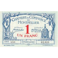 Montpellier - Pirot 85-18 - 1 franc - Série 150 - 11/10/1917 - Etat : NEUF