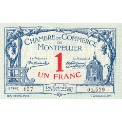 Montpellier - Pirot 85-18 - 1 franc - 1917 - Etat : SPL