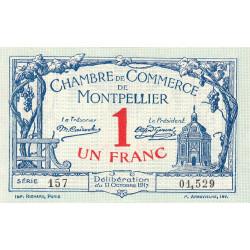 Montpellier - Pirot 85-18 - 1 franc - Série 157 - 11/10/1917 - Etat : SPL