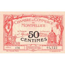 Montpellier - Pirot 85-20 - 50 centimes - Série 176 - 17/07/1919 - Etat : SUP+