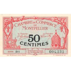 Montpellier - Pirot 85-22 - 50 centimes - Série 211 - 06/01/1921 - Etat : SUP+