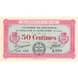 Moulins et Lapalisse - Pirot 86-1 - 50 centimes - Série 107 - 12/05/1916 - Etat : NEUF
