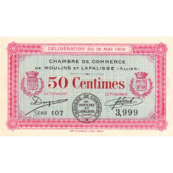 Moulins et Lapalisse - Pirot 86-1 - 50 centimes - Série 107 - 1916 - Etat : NEUF
