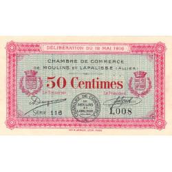 Moulins et Lapalisse - Pirot 86-1 - 50 centimes - Série 116 - 12/05/1916 - Etat : SUP