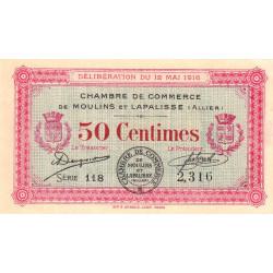 Moulins et Lapalisse - Pirot 86-1 - Série 118 - 50 centimes - 1916 - Etat : SPL