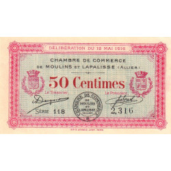 Moulins / Lapalisse - Pirot 86-1 - 50 centimes - Etat : SPL