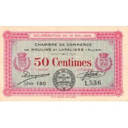 Moulins et Lapalisse - Pirot 86-1 - Série 130 - 50 centimes - 1916 - Etat : TTB+