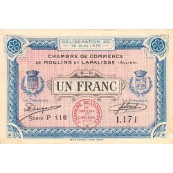 Moulins et Lapalisse - Pirot 86-4a - 1 franc - Série P 116 - 12/05/1916 - Etat : SUP+ à SPL