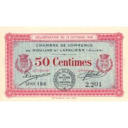 Moulins et Lapalisse - Pirot 86-7 - 50 centimes - Série 158 - 1916 - Etat : NEUF