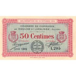 Moulins et Lapalisse - Pirot 86-7 - 50 centimes - Série 162 - 13/10/1916 - Etat : SPL