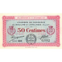 Moulins et Lapalisse - Pirot 86-11 - Série 222 - 50 centimes - 1917 - Etat : NEUF