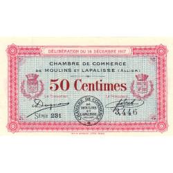 Moulins et Lapalisse - Pirot 86-11 - 50 centimes - Série231  - 14/12/1917 - Etat : SUP+