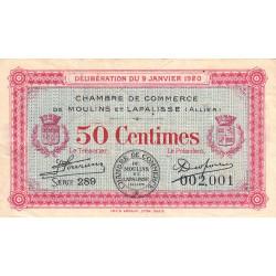Moulins et Lapalisse - Pirot 86-15 - 50 centimes - Série 289 - 1920 - Etat : TB