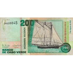 Cap-Vert - Pick 63 - 200 escudos - 08/08/1992 - Etat : TB