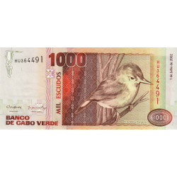 Cap-Vert - Pick 65b - 1'000 escudos - 2002 - Etat : NEUF