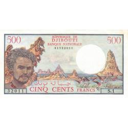 Djibouti - Pick 36a - 500 francs - 1979 - Etat : SUP