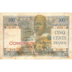 Comores - Pick 4b - 500 francs - 1963 - Etat : TB à TB+