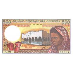 Comores - Pick 10b_2 - 500 francs - 1994 - Etat : NEUF