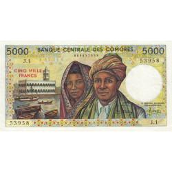 Comores - Pick 12a_1 - 5'000 francs - 1986 - Etat : SUP