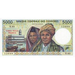 Comores - Pick 12b - 5'000 francs - 1994 - Etat : SPL