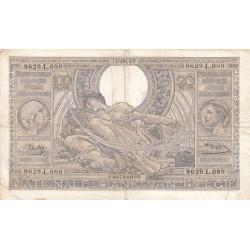 Belgique - Pick 112 - 100 francs ou 20 belgas - 10/09/1942 - Etat : TB