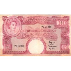 Afrique Orientale Britannique - Pick 40 - 100 shillings - Série P2 - 1958 - Etat : TB