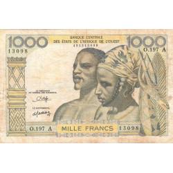 Côte d'Ivoire - Pick 103An - 1'000 francs - Série A.197 - 1980 - Etat : TB-