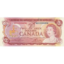 Canada - Pick 86a2 - 2 dollars - 1974 - Etat : TTB