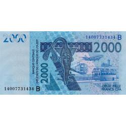 Bénin - Pick 216Bg - 2'000 francs - 2014 - Etat : NEUF