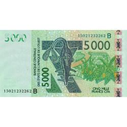 Bénin - Pick 217Bk - 5'000 francs - 2015 - Etat : NEUF