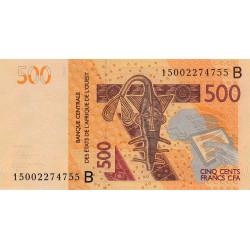 Bénin - Pick 219Bd - 500 francs - 2015 - Etat : NEUF