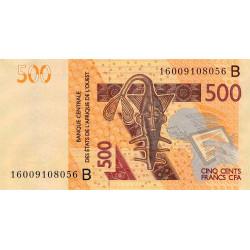 Bénin - Pick 219Be - 500 francs - 2016 - Etat : NEUF