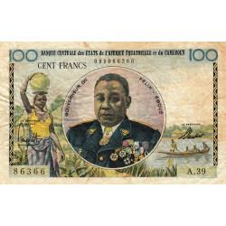 Etats de l'Afrique Equatoriale - Pick 1f - 100 francs - Série A.39 - 1961 - Etat : TB-