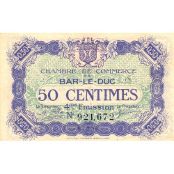 Bar-le-Duc - Pirot 19-13 - 50 centimes - 4me émission (1920) - Etat : SUP