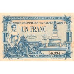 Basses-Alpes - Pirot 20-2 - 1 franc - 19/07/1917 - Etat : SUP