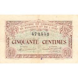 Beauvais - Pirot 22-1 - 50 centimes - 02/06/1920 - Etat : TTB