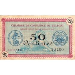 Belfort - Pirot 23-26 - 50 centimes - Série 119 - 28/07/1917 - Etat : TB