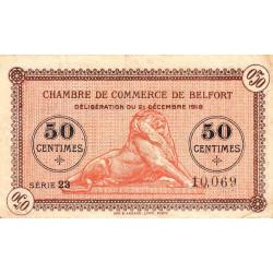 Belfort - Pirot 23-48a - 50 centimes - Série 23 - 21/12/1918 - Etat : TB+