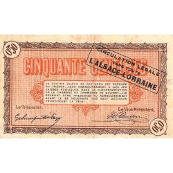 Belfort Pirot 23 48a 50 Centimes 1918 Etat Tb