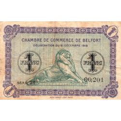 Belfort - Pirot 23-50 - 1 franc - Série 26 - 21/12/1918 - Etat : TB-