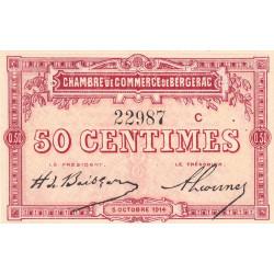Bergerac - Pirot 24-8 variété - 50 centimes - Série C - 05/10/1914 - Etat : NEUF