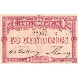 Bergerac - Pirot 24-8b - 50 centimes - 1914 - Etat : NEUF