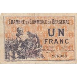 Bergerac - Pirot 24-40 - 1 franc - 10/09/1921 - Etat : TB-