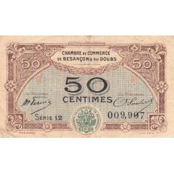 Besançon (Doubs) - Pirot 25-22 - 50 centimes - Série 12 - Sans date (1921) - Etat : TB