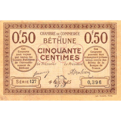 Béthune - Pirot 26-1 - 50 centimes - 1915 - Etat : TB+